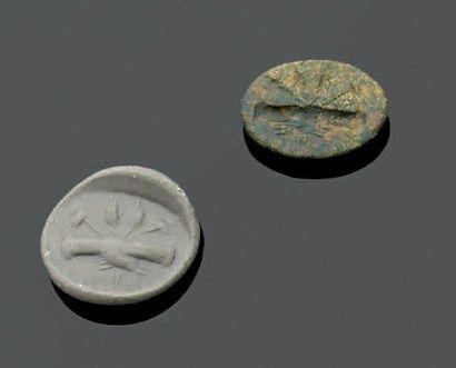 INTAILLE ovale gravée d'une dextrarum junctio...