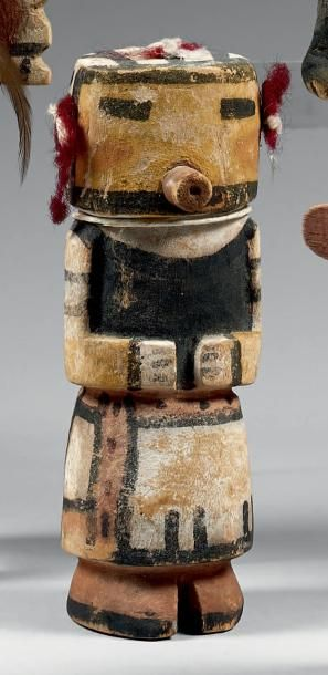 Kachina au délicat masque jaune Hopi, Arizona,...