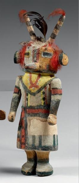 Très beau Kachina aux longues antennes Hopi,...