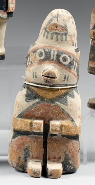 Rare Kachina dite du modèle assis Hopi, Arizona,...