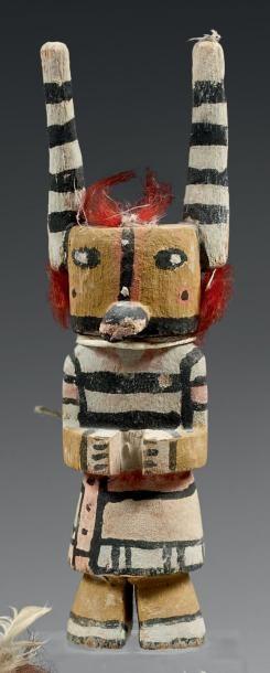 Kachina aux cornes élancées Hopi, Arizona,...