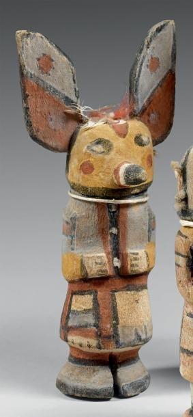 Kachina au masque jaune Hopi, Arizona, U.S.A....