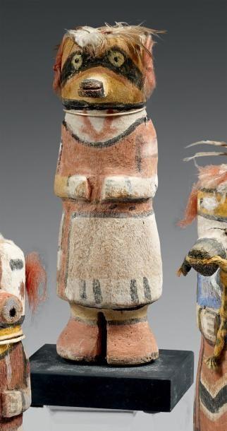 Kachina au masque noir Hopi, Arizona, U.S.A....