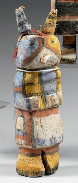 Kachina dit de l'Oiseau cornu Hopi, Arizona,...