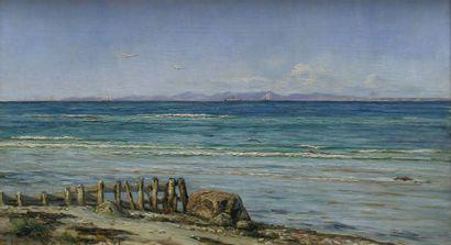 Elisabeth SCHIØTT (1856-1938) Marine Huile sur toile signée Eliss Schiøtt et datée...