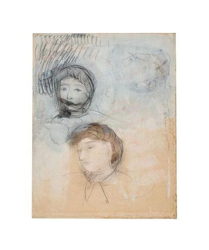 Auguste RODIN (1840-1917) Triple portrait de Nourye de Rohozinska, héroïne des Désenchantées...