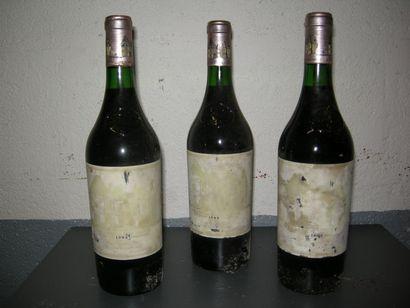 VIN013 - 3 CHATEAU HAUT-BRION, GCC1 Pessac...