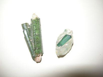 Lot de 2 minéraux du Brésil (probablement...
