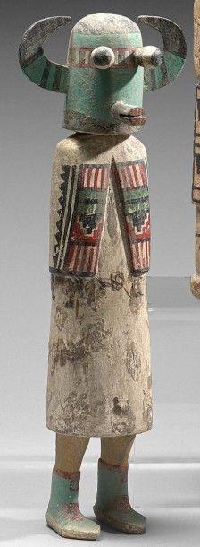 KACHINA SHALAKO Cottonwood, pigments, Zuni,...