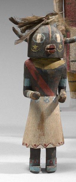 KACHINA HO OTE Cottonwood, pigments, plumes...