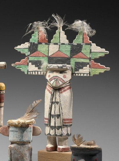 KACHINA SHALAKO MANA Cottonwood, pigments,...