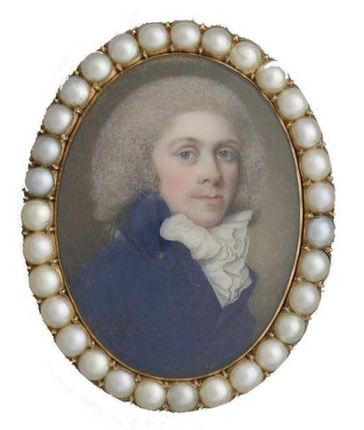 ECOLE ANGLAISE, Attribué au maître « V », fin XVIII° siècle