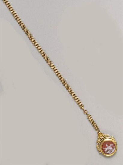CHAINE giletière pouvant constituer un collier...