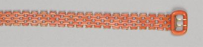 BRACELET « ceinture » finement articulé en...