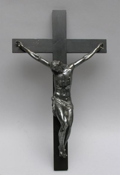 CHRIST EN CROIX en argent Travail belge de...