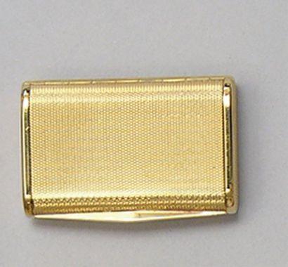 BOITE A PILULES rectangulaire en or jaune...