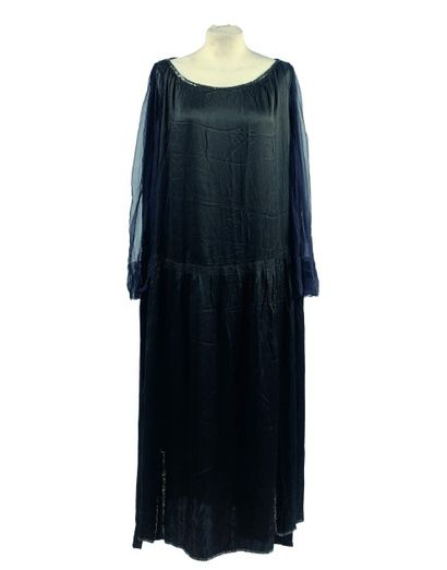 4 PIECES CIRCA 1920: Jeanne LANVIN: 1 Robe...
