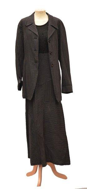 3 pièces: ATSURO TAYAMA :1 Ensemble robe...