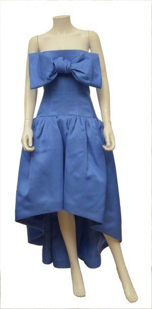 Le DIX de BALENCIAGA: Robe bustier bleu roi...