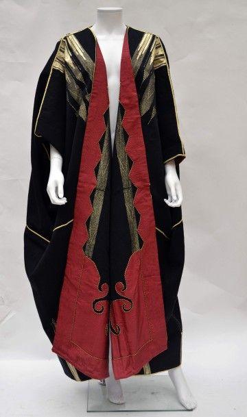 Manteau en lainage noir et or (artisanat...