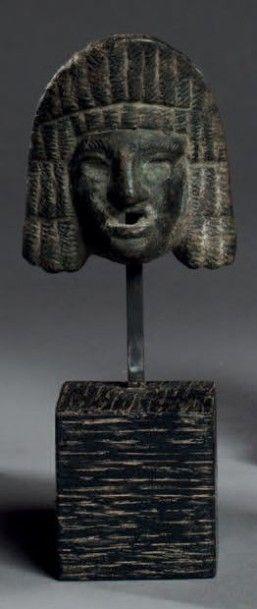 MASQUE de théâtre. Bronze. Art romain. Haut.:...