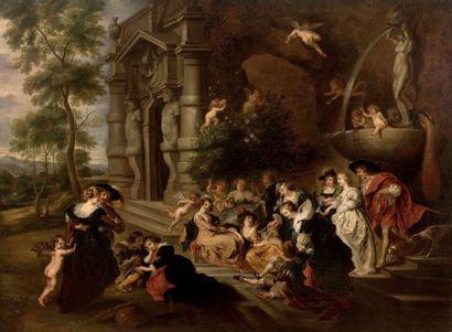 ECOLE FLAMANDE du XVIIème siècle, suiveur de Pierre Paul
