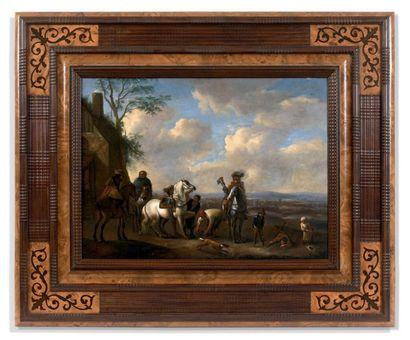 ECOLE HOLLANDAISE vers 1800, suiveur de Wouwerman