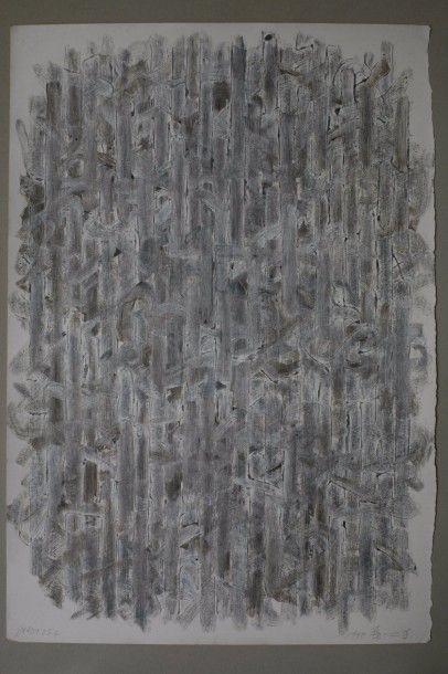 QIN YIFENG (Né en 1961) Line Field, 1998 Acrylique...