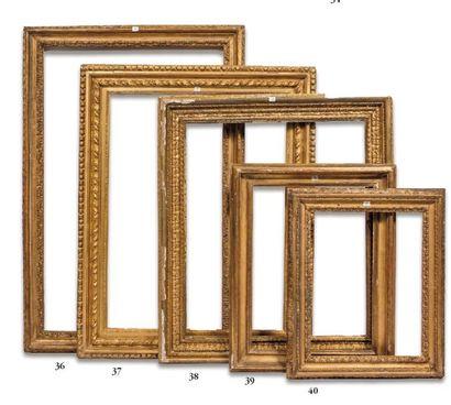 CADRE en bois sculpté et doré dit «Carlo...