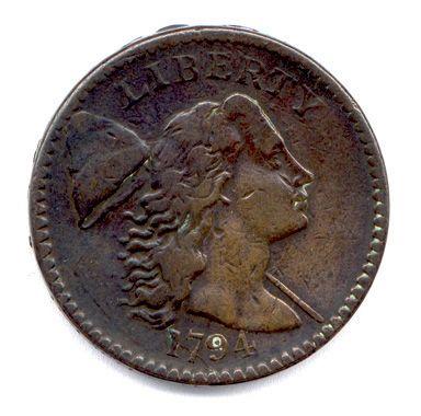 Etats Unis d'Amérique Cent en cuivre 1794....