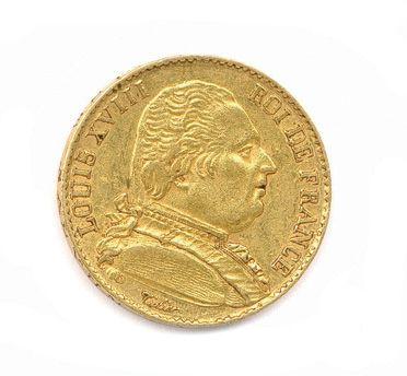 LOUIS XVIII 20 Francs or (au collet) 1814...