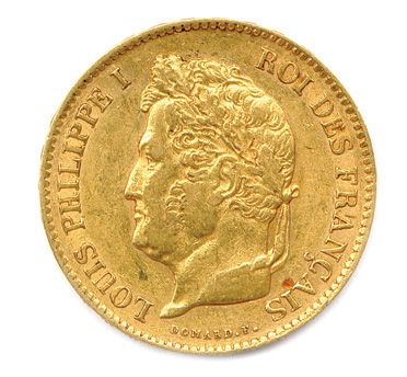 LOUIS-PHILIPPE Ier 40 Francs or 1834 A =...