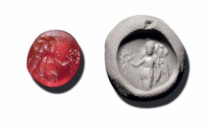 INTAILLE ovale gravée d'une Victoire tenant...