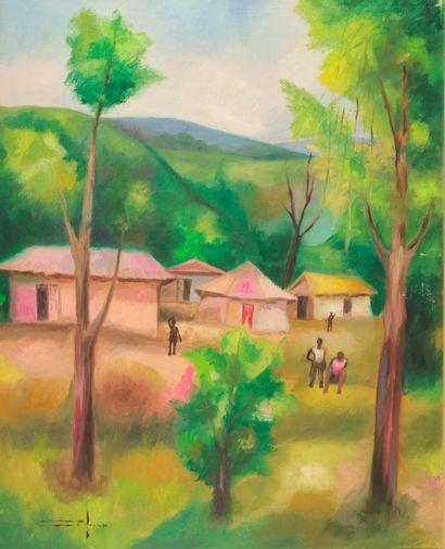 Dieudonné CÉDOR (1925-2010)  Les Cayes  Huile...