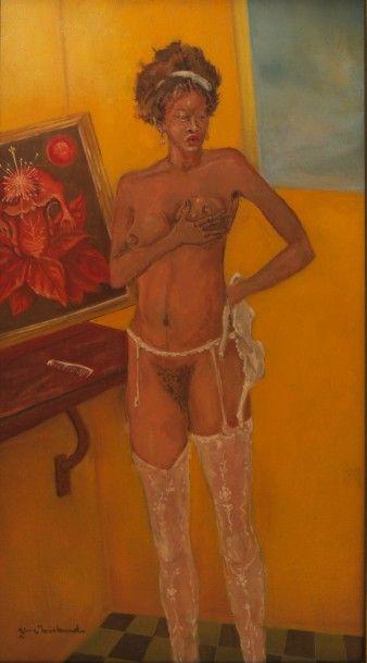 Yves MICHAUD (Né en 1950)  Le déshabillé,...