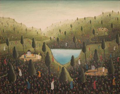 Lamarre SANON (XXIe siècle)  Autour du lac,...
