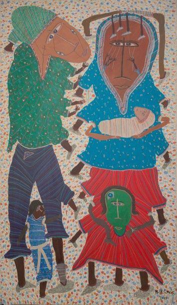 Maxan JEAN-LOUIS (Né en 1966)  Maternité,...