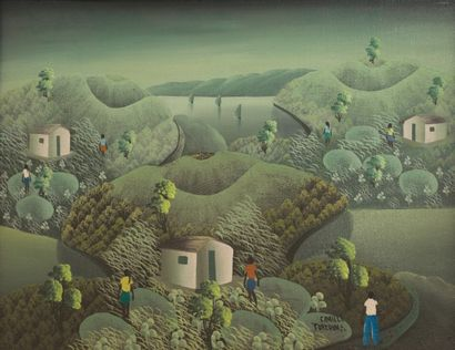 Camille TORCHON (Né 1953)  Sérénité, circa...