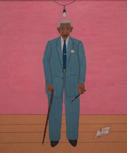 Philomé OBIN (Cap Haïtien 1891-1986)  Autoportrait...