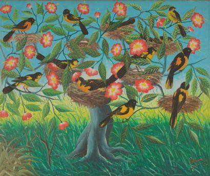 Fernand PIERRE (1919-2002)  L'arbre musicien...