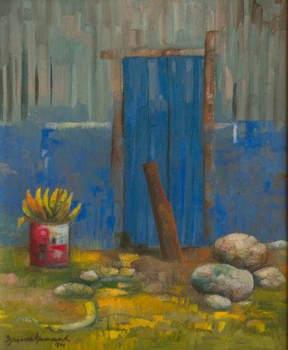 Gesner ARMAND (1936-2008)  La porte bleue,...