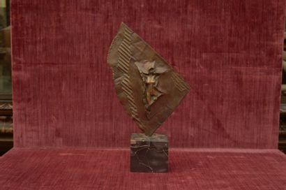 Louis MOLINARI (1932)  Nu féminin drapé  Bronze...