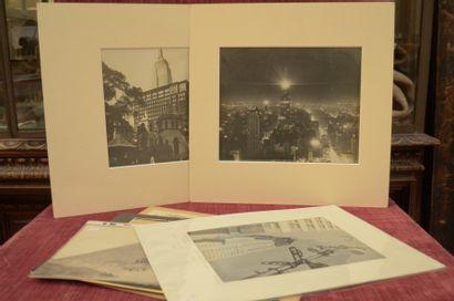 Ensemble de NEUF PHOTOGRAPHIES de la ville...