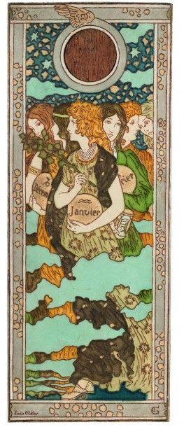 ÉMILE MULLER (1823-1889)  Plaque décorative...