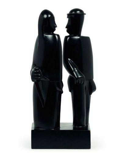 Jean LAMBERT-RUCKI (1888-1967)  Couple au...