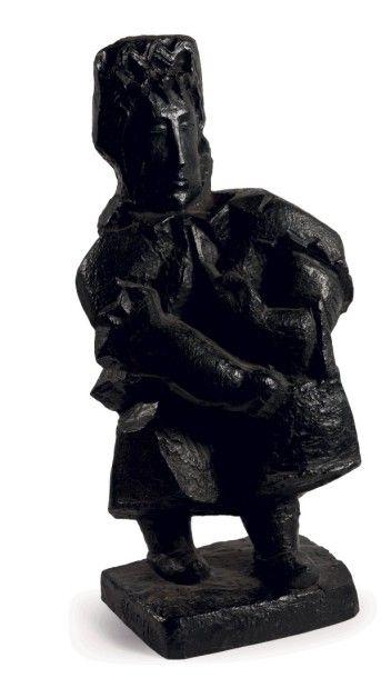 Léon BORGEY (1888-1959)  La paysanne, vers...