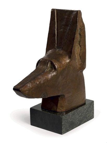 Joseph CSAKY (1888-1971)  Tête de chien,...