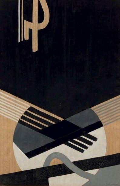 James PICHETTE (1920-1996)  Black Jazz II,...