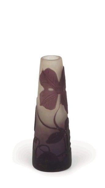 Emile GALLE (1846-1904)  Petit vase soliflore...