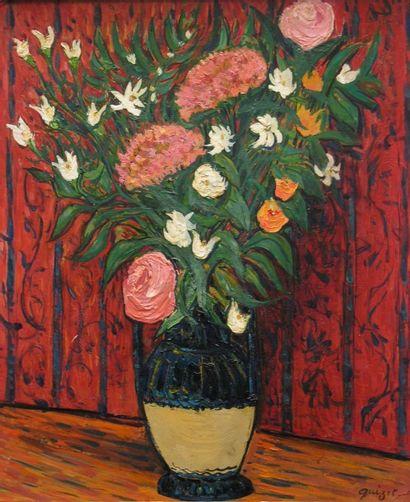 Alphonse QUIZET (1885-1955)  Vase vernissé...